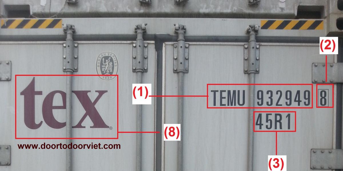 số container và bố ký tự phía dưới