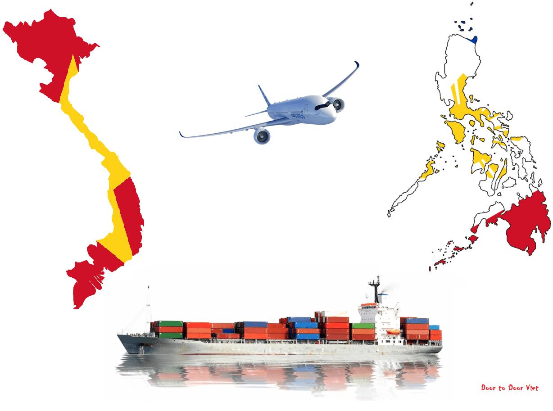 cước vận chuyển từ việt nam đi philippines